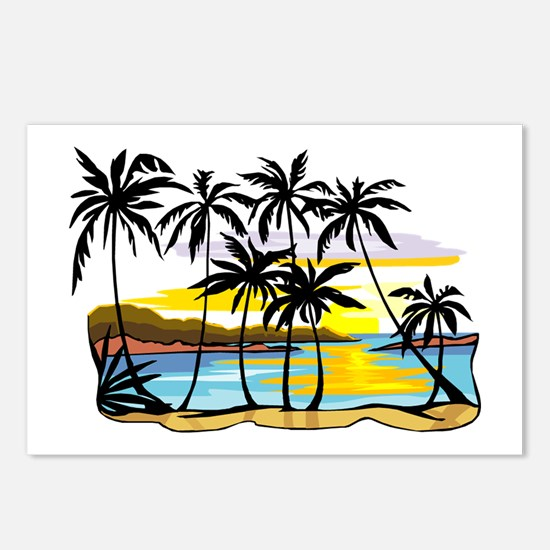 TROPICAL SUNSET Postcards (Package of 8)