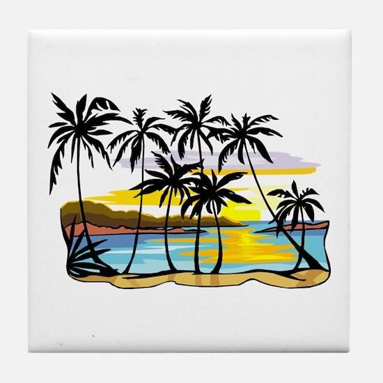 TROPICAL SUNSET Tile Coaster