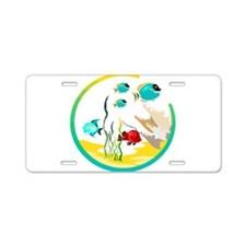 TROPICAL FISH Aluminum License Plate
