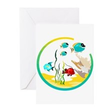 TROPICAL FISH Greeting Cards (Pk of 20)