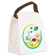 TROPICAL FISH Canvas Lunch Bag