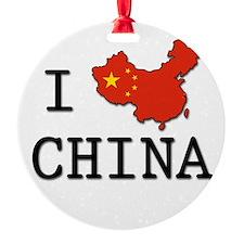 I Heart China Ornament