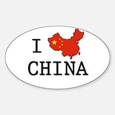 I Heart China Decal
