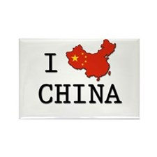 I Heart China Rectangle Magnet