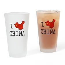 I Heart China Drinking Glass