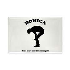 Bohica Bend Over Rectangle Magnet
