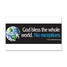 Cute Religious liberal Rectangle Car Magnet