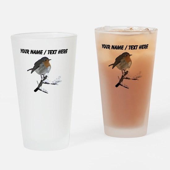 Custom Robin Drinking Glass