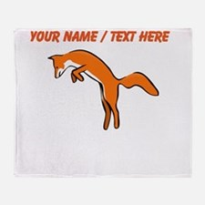 Custom Red Fox Throw Blanket