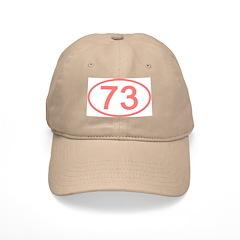 Number 73 Oval Baseball Cap