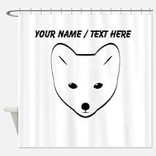 Custom Arctic Fox Shower Curtain