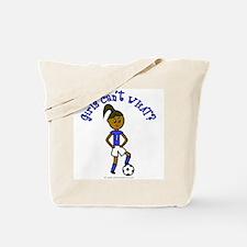 Dark Blue Soccer Tote Bag