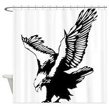 Black Eagle Shower Curtain