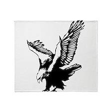 Black Eagle Throw Blanket