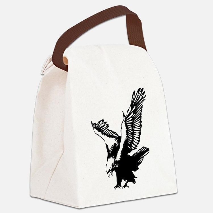 Black Eagle Canvas Lunch Bag