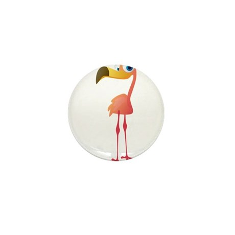 Cartoon Flamingo Mini Button (100 pack)