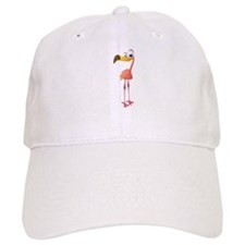 Cartoon Flamingo Baseball Baseball Cap