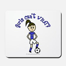 Light Blue Soccer Mousepad
