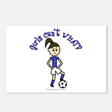 Light Blue Soccer Postcards (Package of 8)