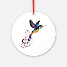 Colorful Hummingbird Ornament (Round)