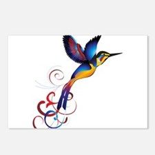 Colorful Hummingbird Postcards (Package of 8)