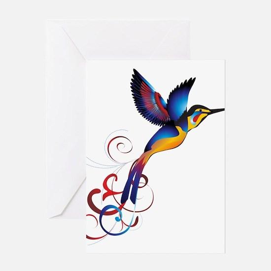 Colorful Hummingbird Greeting Card