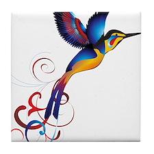 Colorful Hummingbird Tile Coaster