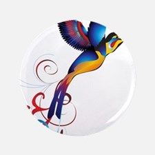 """Colorful Hummingbird 3.5"""" Button (100 pack)"""