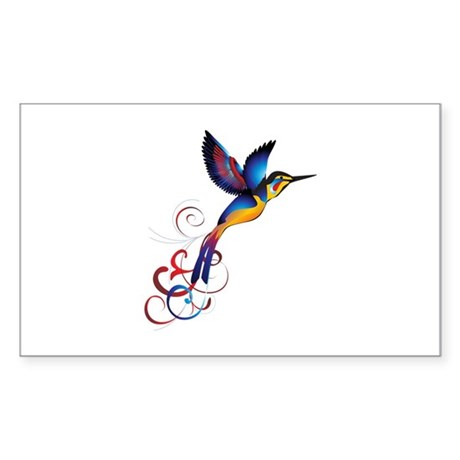 Colorful Hummingbird Sticker
