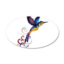 Colorful Hummingbird Wall Decal