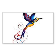 Colorful Hummingbird Decal