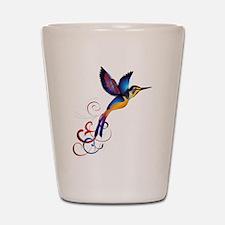 Colorful Hummingbird Shot Glass