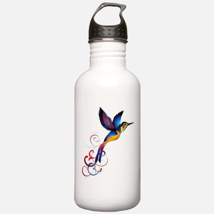 Colorful Hummingbird Water Bottle