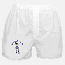 Light Blue Soccer Boxer Shorts