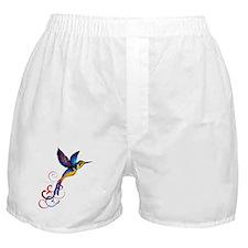 Colorful Hummingbird Boxer Shorts