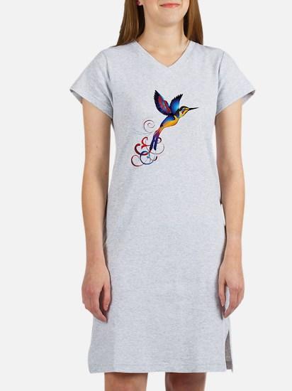 Colorful Hummingbird Women's Nightshirt