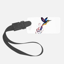 Colorful Hummingbird Luggage Tag