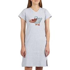 Cartoon Pelican Women's Nightshirt