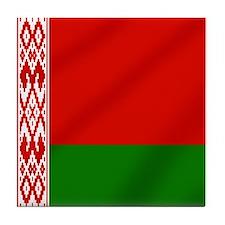 Flag of Belarus Tile Coaster