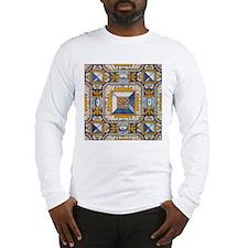 Azulejo Azul e Amarelo Long Sleeve T-Shirt