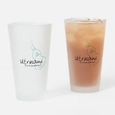 ultrasound transducer bluegreen Drinking Glass
