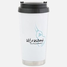 ultrasound transducer bluegreen Travel Mug