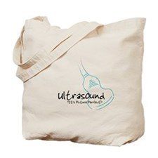ultrasound transducer bluegreen Tote Bag