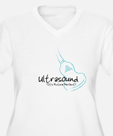 ultrasound transducer bluegreen Plus Size T-Shirt