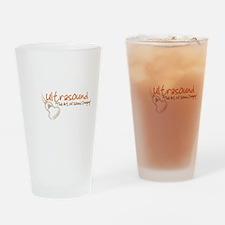 ultrasound transducer orange Drinking Glass