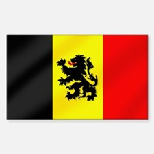 Rampant Lion Belgian Flag Decal
