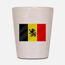 Rampant Lion Belgian Flag Shot Glass