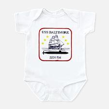 USS Baltimore SSN 704 Infant Bodysuit