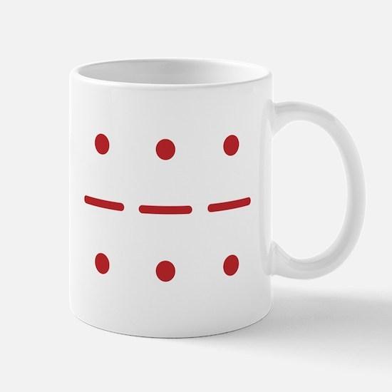 SOS in Morse Code Mug