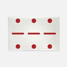 SOS in Morse Code Rectangle Magnet